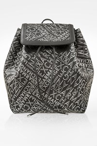 Armani Exchange Grey Artificial Leather Backpack with Logo