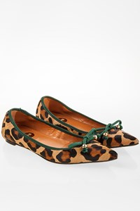 Ras Leopard Pony Hair Pointed Ballerinas / Size: 37 - Fit: True to size