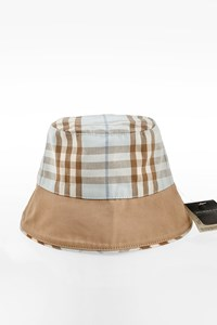 Burberry London Check Printed Bucket Reversible Hat