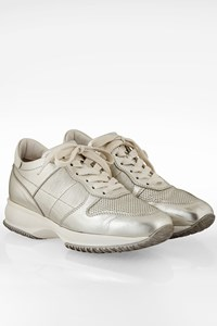 Hogan Interactive Silver Leather Sneakers / Size: 38 - Fit: 39