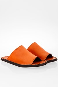 See by Chloé Orange - Tan Leather Slides / Size: 36 - Fit: Actual Size