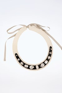 Miu Miu Collar Necklace with Large Swarovski Crystals