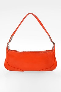 Escada Orange Eluna Leather Shoulder Bag