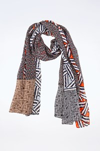 DVF Multicoloured Silk Scarf