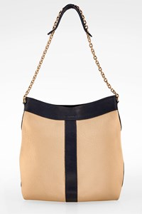 See by Chloé Ecru-Blue Leather Shoulder Bag