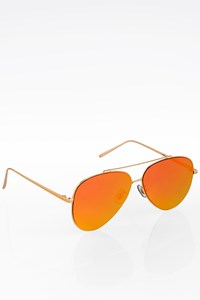 Gentle Monster Orange Mirror Aviator Metal Sunglasses