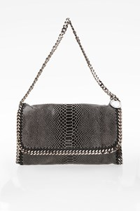 Stella McCartney Falabella Faux Python Skin Clutch Bag