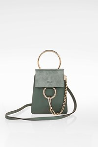 Chloé Cloudy Blue Faye Small Leather Bracelet Bag