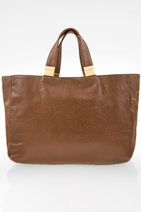 Zadig & Voltaire Tobacco Brown Leather Tote Bag
