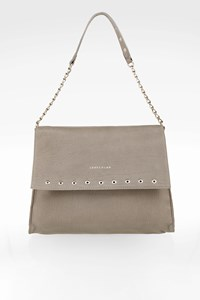 Longchamp Grey Smooth Leather Shoulder Bag