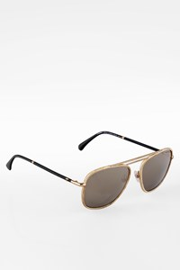 Chanel 4230Q Gold-Black Aviator Small Metal Sunglasses