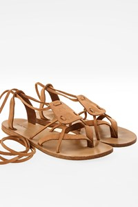 Valia Gabriel Tan Leather Gladiator Flat Sandals / Size: 39 - Fit: True to size