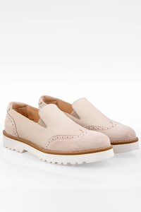 Hogan Ecru Leather Slip On / Size: 36 - Fit: 36.5