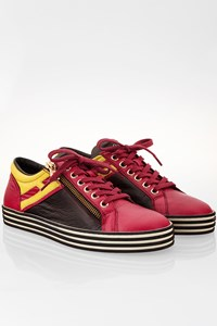 Hogan Rebel Tricolour Leather Sneakers / Size: 36 - Fit: True to size