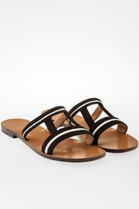 Zeus + Dione Hephaestus Sandals with Black and White Weave / Size: 39 - Fit: 38.5