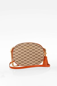 MICHAEL Michael Kors Ginny Orange Leather Crossbody Bag