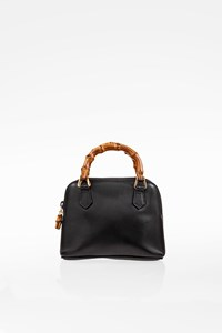 Gucci Black Leather Macro Mini Handbag