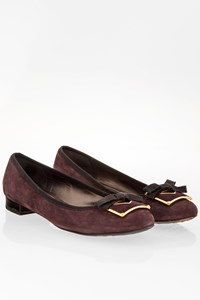 Car Shoe Purple Suede Ballarinas with Buckle / Size: 40 - Fit: 39.5