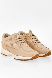 Hogan Beige Leather Interactive Sneakers / Size: 39 - Fit: 40