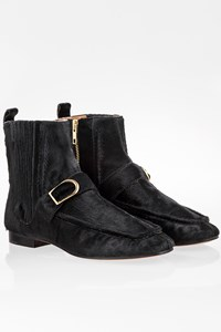Isabel Marant Black Pony Hair Flat Booties / Size: 38 - Fit: True to size