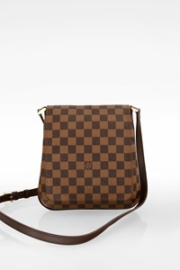 Louis Vuitton Musette Salsa Damier Ebene Canvas Crossbody Bag