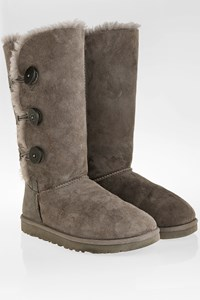 Ugg Grey W Bailey Button Triplet Boots / Size: 39 - Fit: True to size