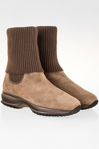 Hogan Beige Suede Ankle Boots / Size: 37 - Fit: 38