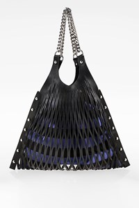 Sonia by Sonia Rykiel Le Baltard Black Leather Large Tote Bag