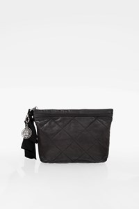 Lanvin Amalia Βlack Quilted Leather Clutch