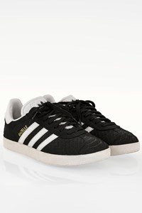 Adidas Gazelle W Black Suede Sneakers with Snakeskin Effect / Size: 37 1/3 - Fit: True to size
