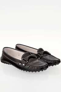 Tod's Black Patent Leather Loafers / Size: 37 - Fit: True to size