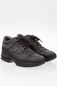 Hogan Black Leather Interactive Sneakers / Size: 37 - Fit: 38