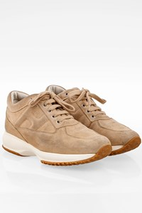 Hogan Beige Suede Leather Interactive Sneakers / Size: 37.5 - Fit: 38.5