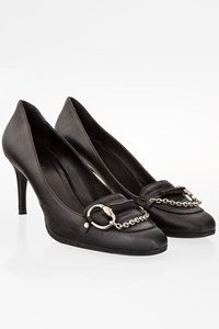 Gucci Black Leather Pumps with Horsebit / Size: 38C - Fit: 38.5