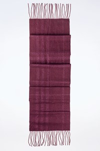 Burberry Purple Check Printed Wool Scarf with Metallic Thread