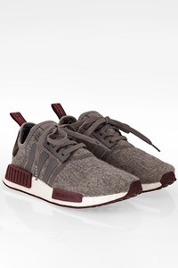 Adidas NMD R1 Grey Wool Sneakers / Size: 38 2/3 - Fit: 38.5