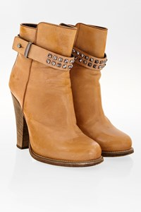 Barbara Bui Tan Leather Booties with Studs / Size: 38 - Fit: True to size