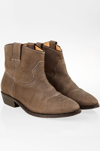 Catarina Olsen Tobbaco Brown Leather Booties / Size: 38 - Fit: 38.5