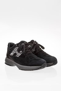 Hogan Black Interactive Junior Suede Sneakers / Size: 33 - Fit: 34
