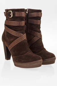 Fendi Brown Suede Ankle Booties with Straps / Size: 36.5 - Fit: 37