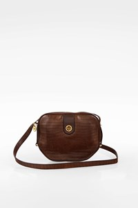 Dior Vintage Brown Leather Mini Crossbody Bag