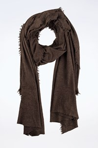 Donna Karan Brown Wool Wide Scarf