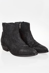 Catarina Black Stamped Leather Chelsea Boots / Size: 41 - Fit: True to size