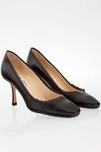 Jimmy Choo Black Leather Pumps / Size: 36 - Fit: True to size