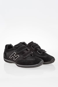 Hogan Black Junior Suede Sneakers / Size: 36 - Fit: 36.5