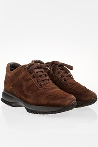 Hogan Brown Suede Interactive Sneakers / Size: 36.5 - Fit: 37.5