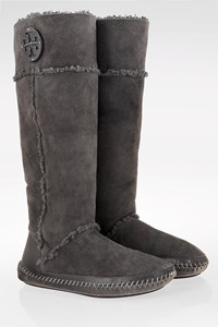 Tory Burch Grey Shearling Boots / Size: ? - Fit: 39