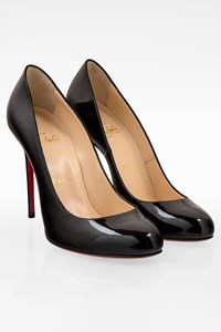 Christian Louboutin Simple Pump 100  Black Patent Leather Pumps/ Size: 38 - Fit: True to size