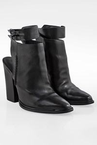 Alexander Wang Dasha Black Leather Booties / Size: 38.5 - Fit: True to size