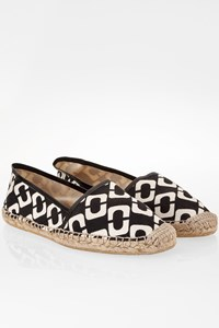 DVF Cadence Black and White Flat Espadrilles / Size: 8 - Fit: 38.5